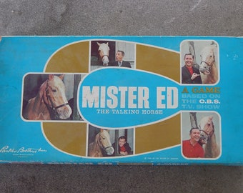 Vintage Mr. Ed The Talking Horse Board Game - 1962 - Parker Brothers - Vintage Board Games - Vintage Mr. Ed - Vintage Gifts