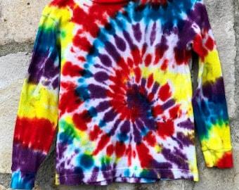 Old Navy Thermal Kids' Medium Tie-Dye Rainbow Spiral
