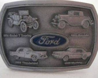 Vintage Ford Pewter Belt Buckle Automobiles Motorsport May 24 1991 Commemorate