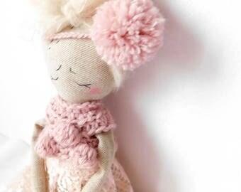 Doll playset| Linen rag doll | Dressup doll | Fabric doll | Playset |