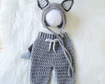 Baby Wolf Costume, Newborn Halloween Costume, Newborn Costume, Baby Costume, Halloween Costume, Dog Hat, Baby Dog Outfit, Baby Wolf Outfit