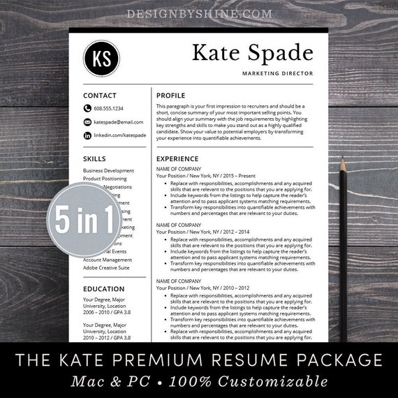 Cv professional template cv template word or mac pages instant cv professional template cv template word or mac pages instant download cv design free cover letter creative modern bundle the kate yelopaper Gallery