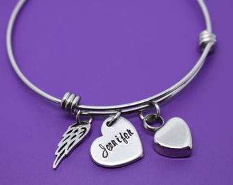 Memorial Jewelry Cremation  - Urn Remembrance Jewelry Gift - Sympathy Gift Idea - Memorial Bracelet - Bereavement Gift - Simple - High quali