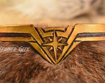 Baby Sized Wonder Woman Tiara, wonder woman cosplay, Gal Gadot, crown, costume headband, leather armor, Justice League, wonder woman costume