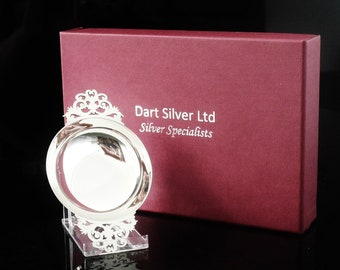 NEW Sterling Silver Quaich, Scottish, Boxed, Gift, Present, 25th Anniversary, Hallmarked Edinburgh , Dart Silver Ltd