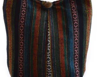 Woven cotton  Hobo bag, Boho, Hippy, Shoulder bag, Gypsy, Hobo crossbody bag, Hippie purse, Thailand , Thai bag