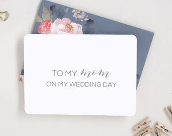 Mother Wedding Day Card. From the Bride and Groom. From the Bride Card. To My Father Card. Wedding Day Cards from Bride. Father of the Bride