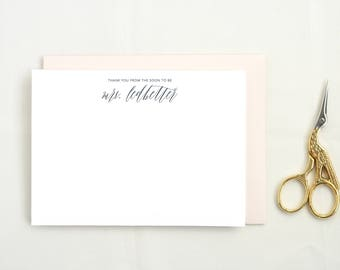 Personalized Future Mrs. Wedding Shower Thank You Cards. Future Mrs. Stationary Boxed Cards Thank You Cards Wedding Blank Thank You MRS11