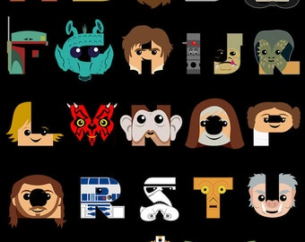 Star Wars Alphabet T-Shirt from A to Z