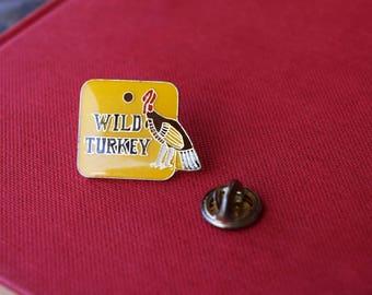 Wild Turkey Kentucky Bourbon Lapel Pin - Vintage - Alcohol Collectible