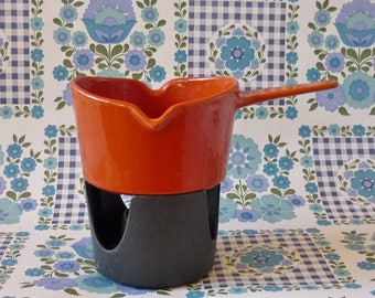 Copco Cast Iron Enamelware Sauce Pot and Warmer