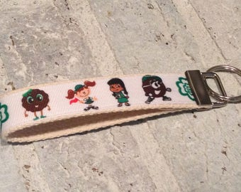 Girl Scout Cookie Time Keychain Wristlet