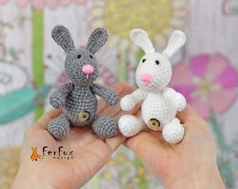Miniature bunny rabbit Easter gift Plush bunny Stuffed rabbit Tiny Easter bunny Stuffed animal Collectible bunny figurine Miniature animals