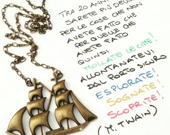 Galleon necklace