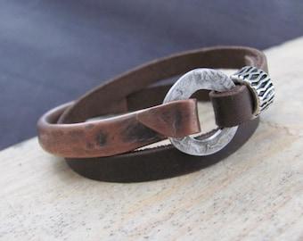 Boho Wrap Bracelet, Boho Womens Bracelet, Womens Leather bracelet, Wrap Leather Bracelet, Womens wrap Bracelet, Leather Bracelet for Womens