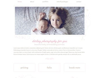 Premade Wix Website • Photography Theme