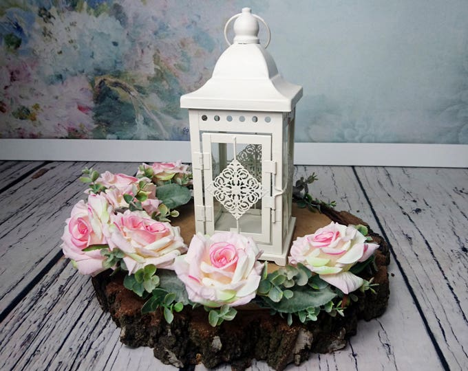 Wedding centerpiece Maroccan candle lantern Rustic vintage party decor metal glass cream woodland outdoor home shabby chic supply