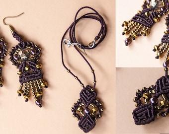 Jewelry sets in macramé