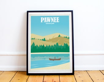 Parks & Recreation - Pawnee National Park Art Poster Print - (Available In Many Sizes)