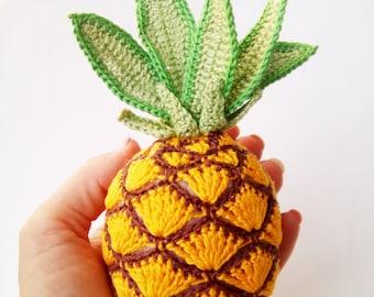 1 PC-Crochet Pineapple toy , Pineapple Amigurumi, Fruit Doll, Pineapple Plushie, Sensory Toy,Interactive children games.