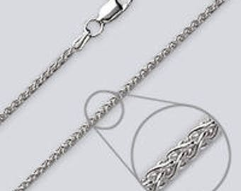 """Wheat Style Silver Chain - 24"""""""