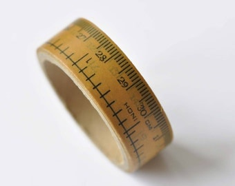 Retro Teacher Measuring Tape Ruler Washi Tape 15mm Wide x 5M Roll No. 12521