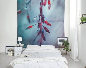 Nature Tapestry, Large Wall Art, Blue And Red, Wall Hanging Art, Photo Tapestry, Outdoor Tapestries, Small Tapestries, Blue Tapestry