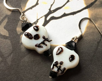 Halloween Jewelry, Halloween Earrings, Skull Earrings, Halloween Gift Idea, Skull