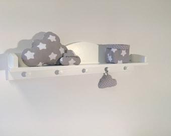 Puckdaddy Cloud Wall Shelf for Nursery