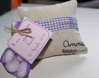 Favors-hand painted raw cotton pillow