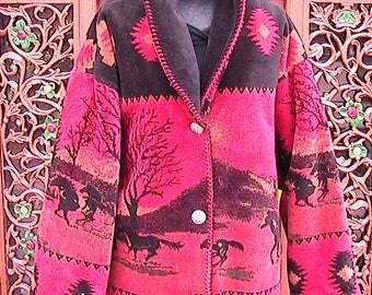 IX Cold Water Creek Reversible Coat