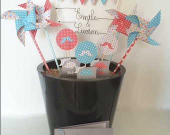 Cake Toppers Decoration for cake name Double