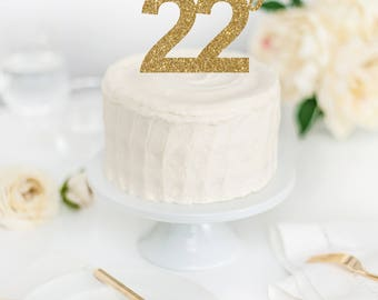 Feeling 22 Cake Topper - Feeling 22 Decor - TSwift Birthday Party Decor - Birthday Party Cake Topper - 22nd Birthday Decorations