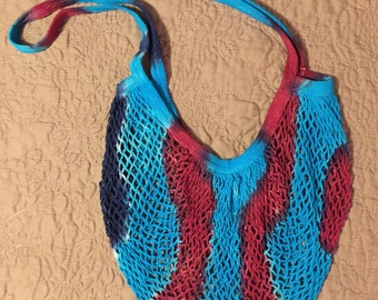 Cotton mesh tie-dye market bag