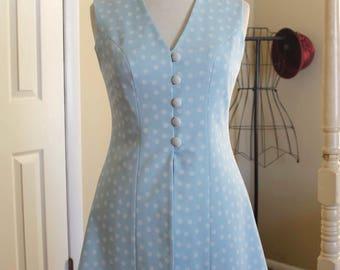 60s polka dot | mint blue vest ALFRED WERBER