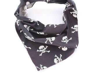 Black Skulls Puppy Dog Bandana