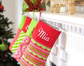 Holly jolly Christmas stocking-Christmas stocking-holiday stocking-monogrammed stocking-monogram-personalized stocking-Christmas stockings-
