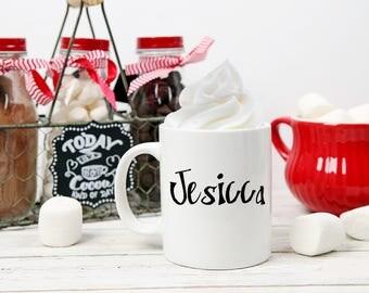 Cute Hot Cocoa Gift Ideas, Hot Chocolate Mug Gift, Personalized Hot Cocoa Mug, Holiday Gifts, Hot Cocoa, Hot Chocolate, Winter Holiday Gift