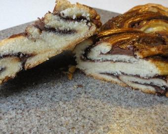 1 lb nutella braided bread, braided bread, chocolate braided bread