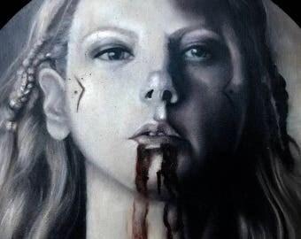 Lagertha from Vikings Oil portrait