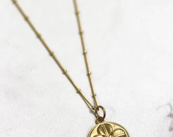 The MMXVIII Good Luck Necklace, clover necklace, four leaf clover necklace