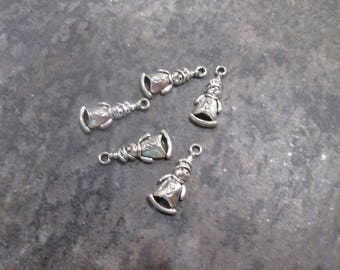 SALE Snowman Charms Package of 5 Charms Christmas and Holiday Charms great for adjustable bangle bracelets