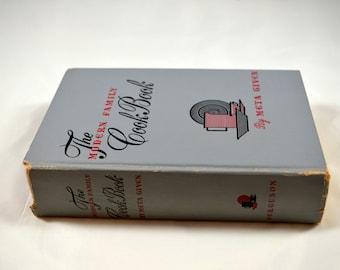 The Modern Family Cookbook Meta Given 1953 Vintage Cookbook 1950s Cookbook