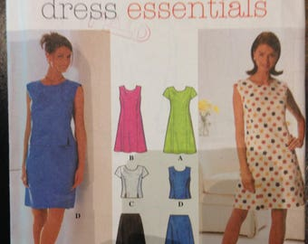 Simplicity 7509 Tailored Princess Seams Dress or Top and Skirt - Size 4 6 8 or 10 12 14