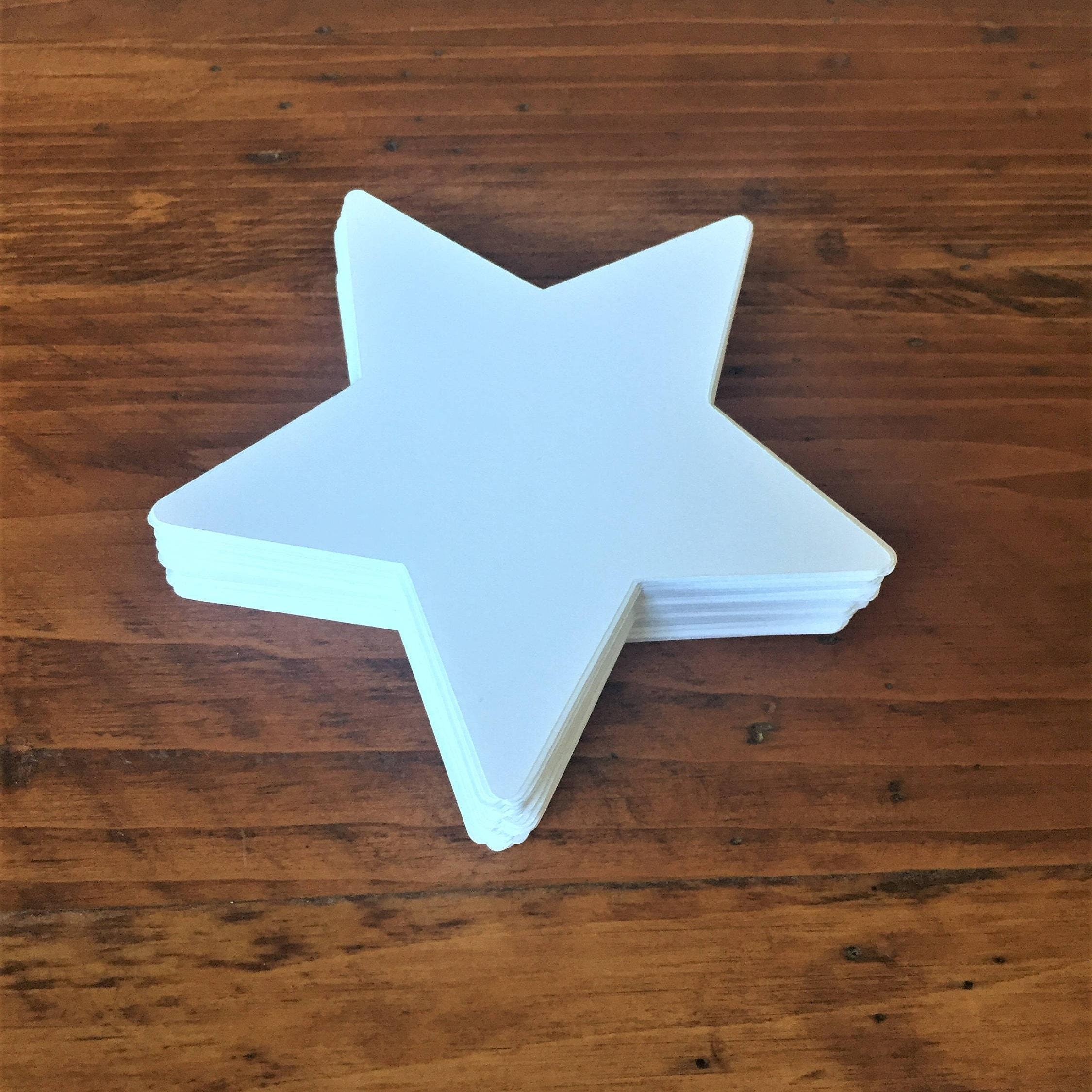 Large white star die cuts 4 wide white star cutouts for How to make a big paper star