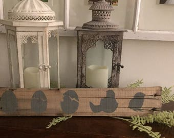 Farmhouse Wall Decor, Hatching Chick Sign, Art, Hand Painted on Reclaimed Wood