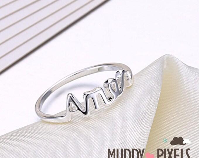 Unique Beautiful Religious Ring - Amen