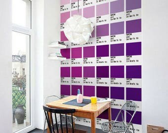 Pantone Purples - Wall Tiles - Stair Decals - Tile Stickers - Tile Decals - Stair Riser - Staircase - Stair Riser - PACK of 56 - SKU:PANT3