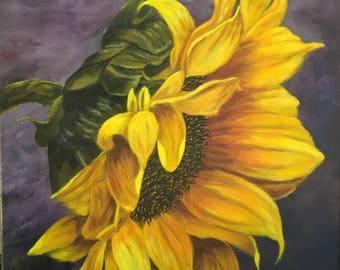 Acrylic Painting Flower|Sunflower, Acrylic Painting,Flower Painting, ORIGINAL Painting, Painting on Canvas, Original, Wall Art, Art, Canvas