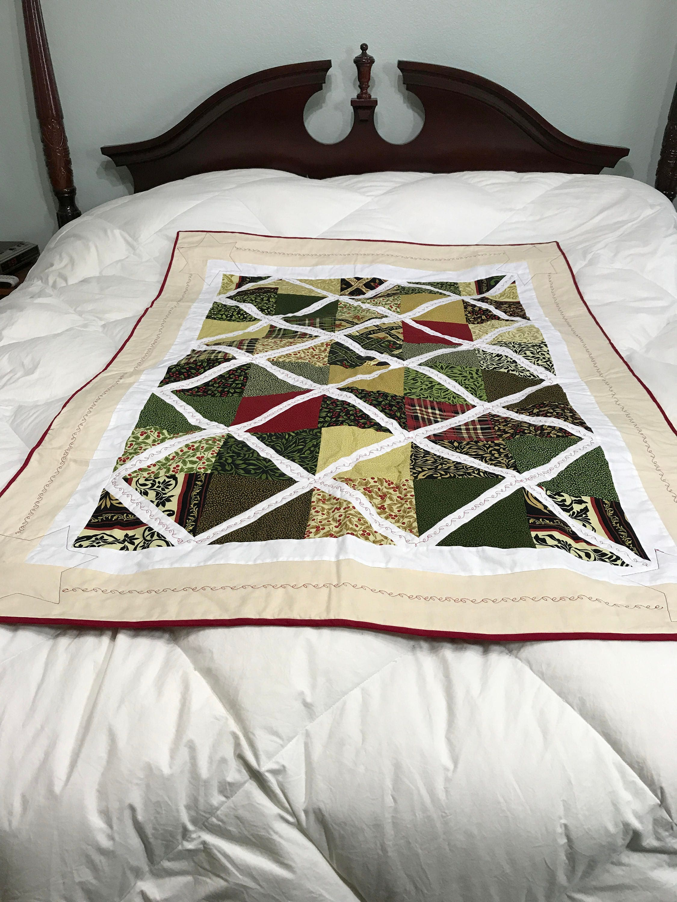 Quilted Lap Blanket, Quilted Throw Blanket, Winter Quilt, Lap ... : quilted lap throws - Adamdwight.com